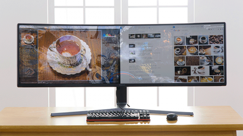 Use 2 Monitors at Your Desk? Check Out the New Samsung Ultrawide Curved Monitor