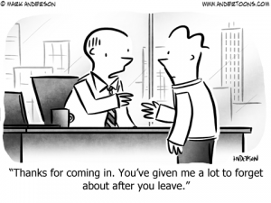 Sales Pitch Business Cartoon
