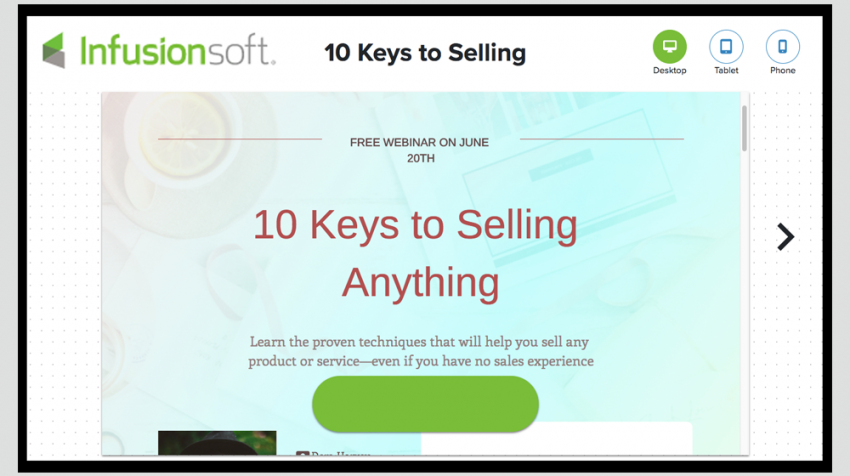 Infusionsoft Landing Pages Update Targets Small Businesses