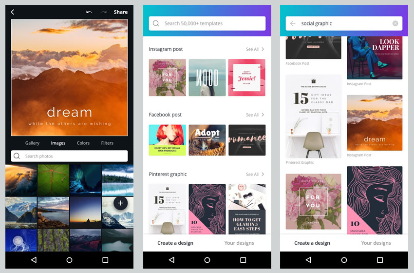 Graphic Design Platform Canva Now Offers Canva for Android App