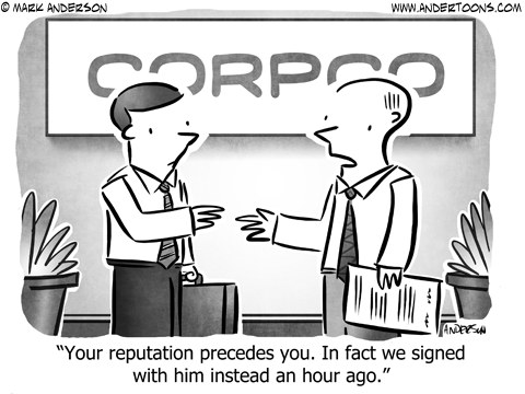 Hiring Business Cartoon