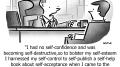 Self-Confidence Business Cartoon