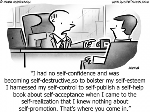 Self-Confidence Business Cartoon