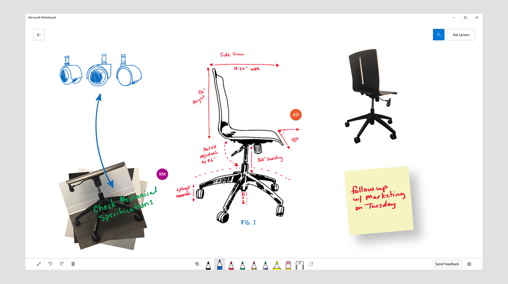 Preview of Microsoft Whiteboard Collaboration App for Windows 10 Devices
