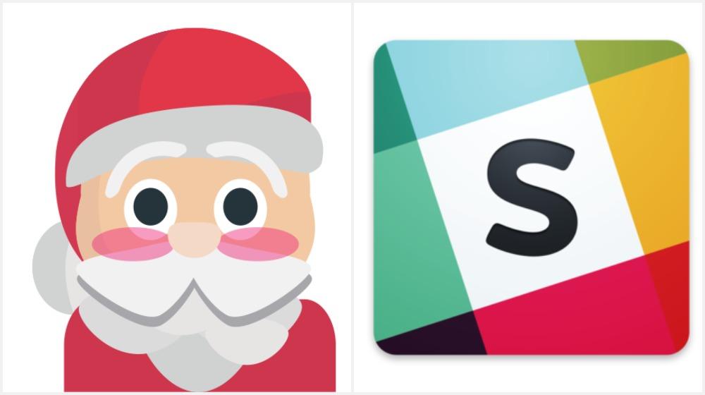 Keep the Hat on a Rack, it is a Secret Santa App from Slack