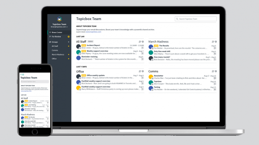 Topicbox Group Email Discussion Tool Says It's the Slack of Group Email