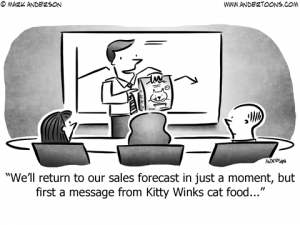 Product Placement Business Cartoon