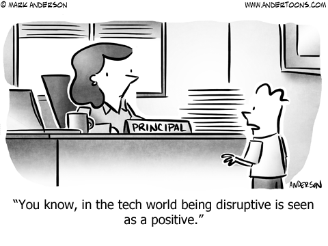 Disruptive Business Cartoon