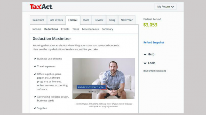 TaxAct for Freelancers Designed for the Self-Employed