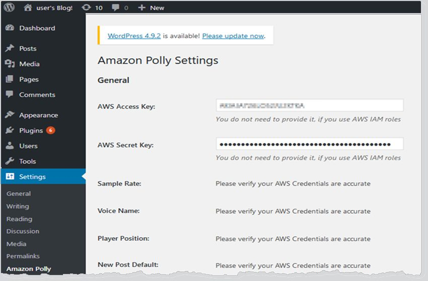 Amazon Polly WordPress Plugin Turns Sites Into Talking Blogs