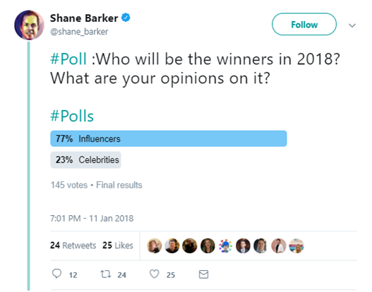 Influencers Vs Celebrities: Who Will Win in 2018?