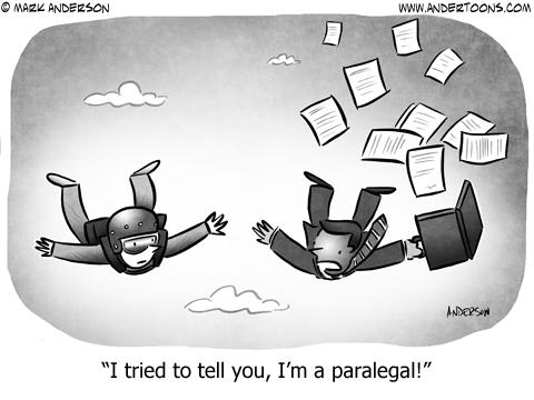 Paralegal Business Cartoon