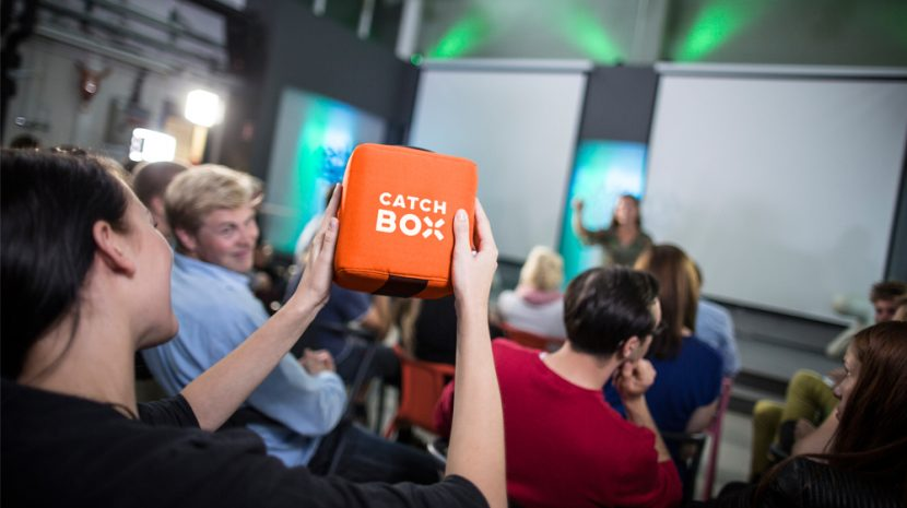 Toss the Mic -- New Catchbox Throwable Microphone Can Be at Your Next Presentation or Meeting