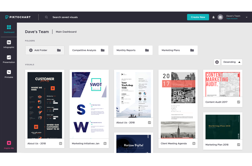 Piktochart for Teams Allows for Design Collaboration