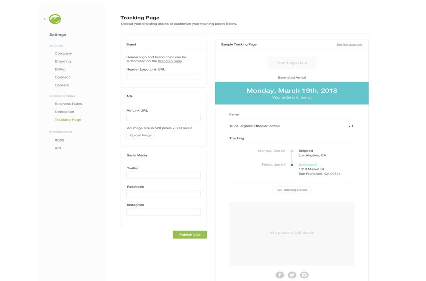 Keep Customers Engaged with New Shippo Tracking Pages