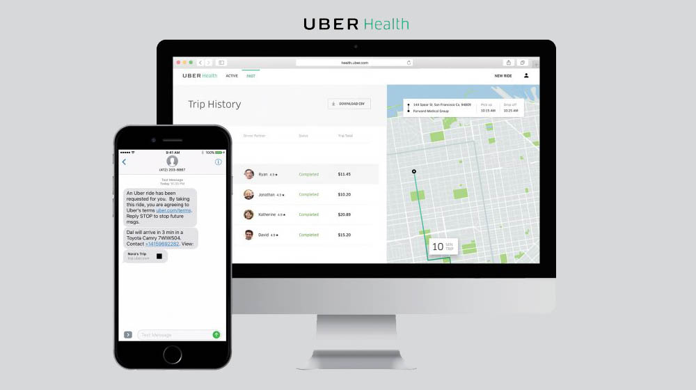 Uber Health Allows Medical Professionals to Organize Patient Rides