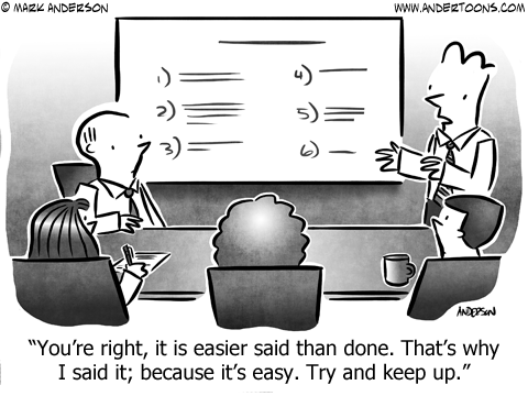 Try and Keep up Business Cartoon