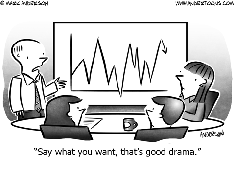 Drama Business Cartoon
