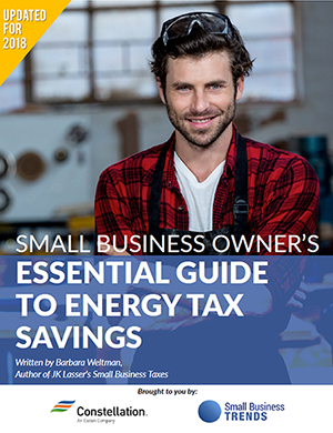 Save Your Biz Money at Tax Time by Going Greener with this Free Energy Tax Credit Ebook