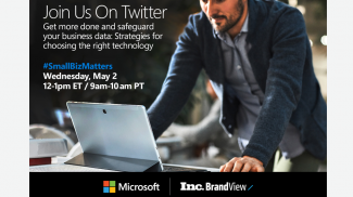 Join Our Twitter Chat with Microsoft 365 on Better Productivity and Security for Your Business
