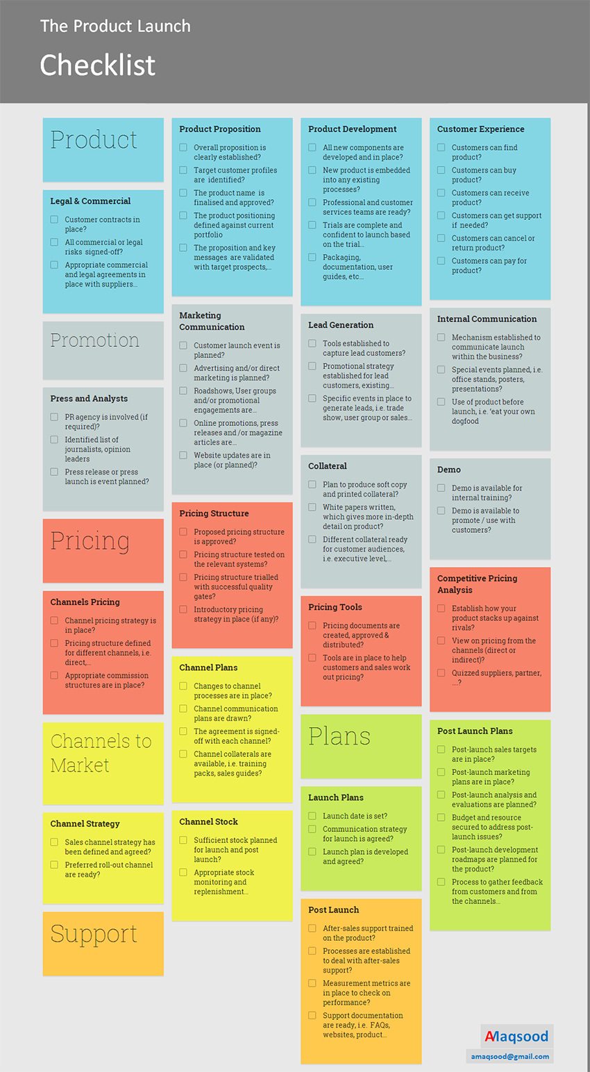 Launching a Product Soon? Check out: The Ultimate Product Launch Checklist Template!