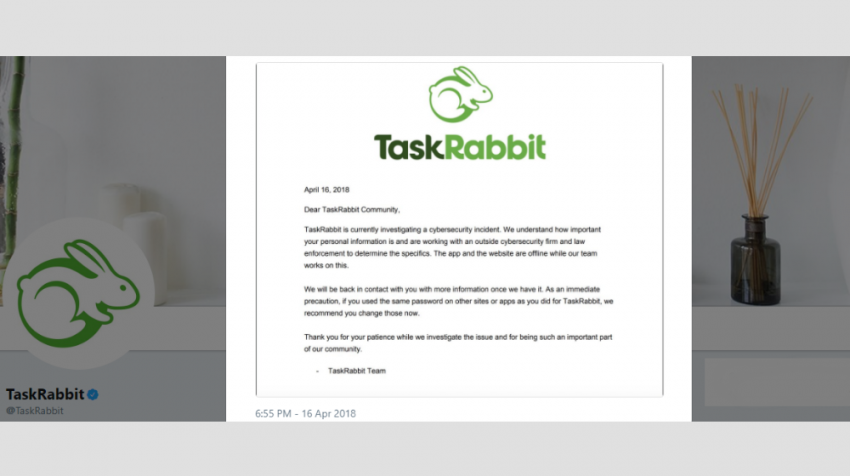 """TaskRabbit Cybersecurity Incident Leaves """"Taskers"""" Temporarily without Customers"""