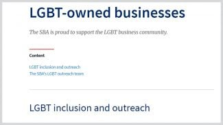 SBA LGBTQ Resources Back on Its Website
