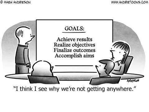 Goals Business Cartoon