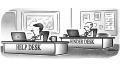 Help Desk Business Cartoon