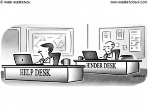 Help Desk Business Cartoon