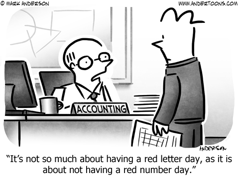 Accounting Business Cartoon