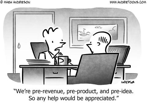 Pre-Revenue Business Cartoon