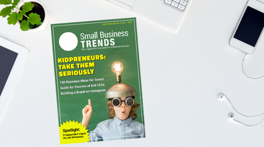 Small Business Trends Magazine's Kidpreneurs Edition Looks to the Next Generation