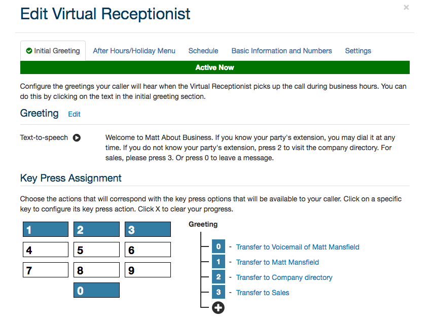 Ooma for Business - Virtual Receptionist