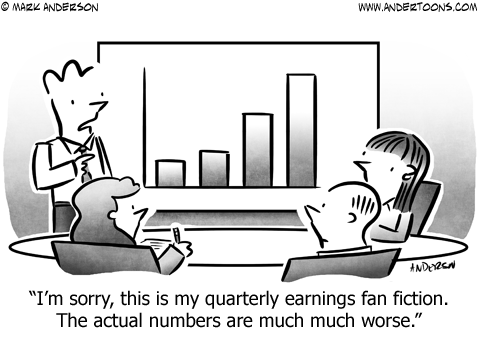 Fan Fiction Business Cartoon
