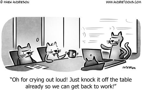 Cat Business Cartoon