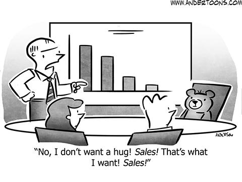 Teddy Bear Business Cartoon