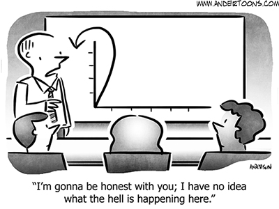 Chart Business Cartoon
