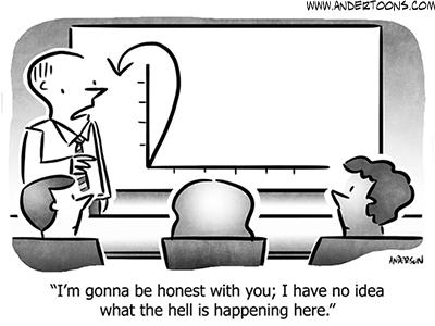 Chart Business Cartoon