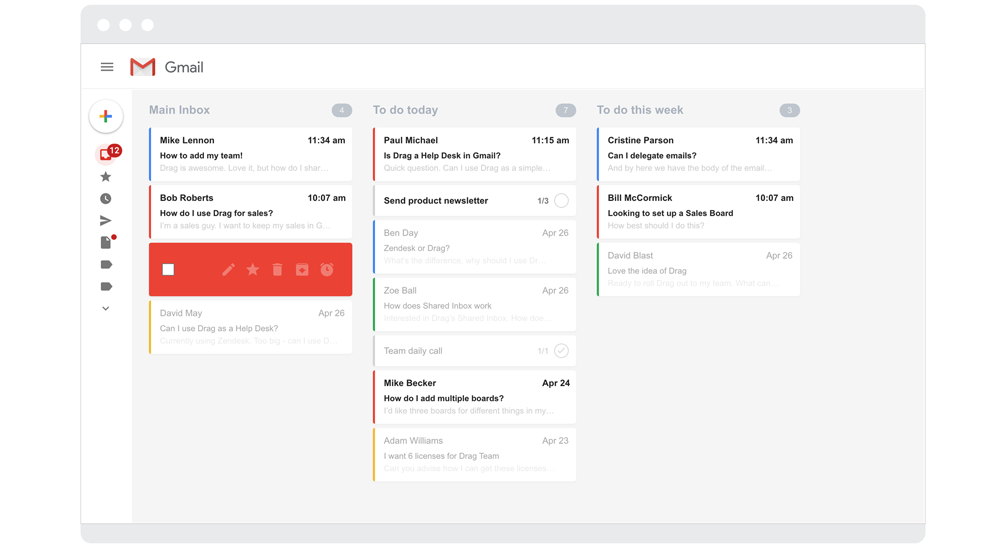 Drag App Works as a Productivity Tool Within Your Gmail