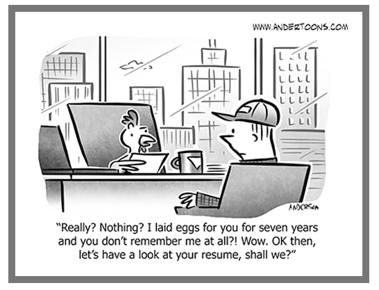 Chicken Business Cartoon