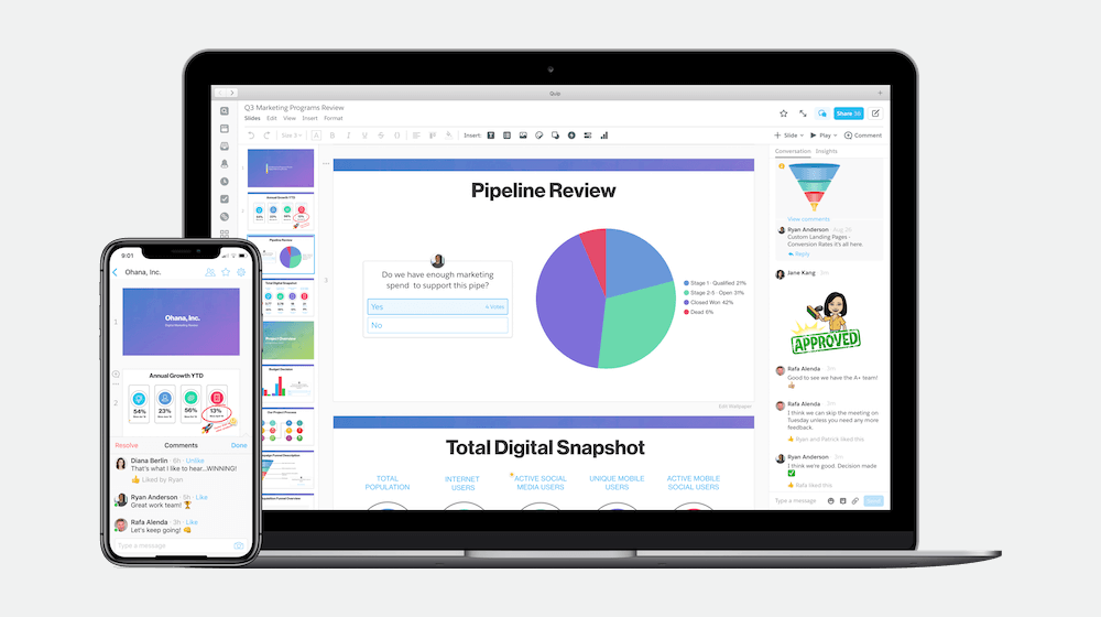 Salesforce Quip Slides Challenging PowerPoint and Google Slides