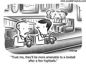 Drinking Business Cartoon