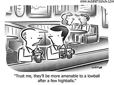 Drinking Business Cartoon