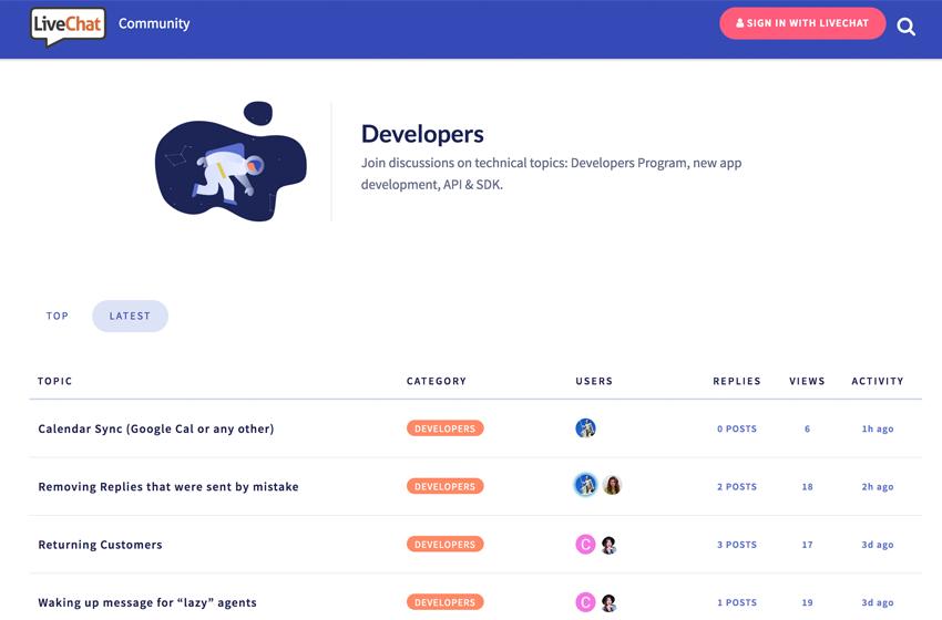 New LiveChat Community Platform Launched