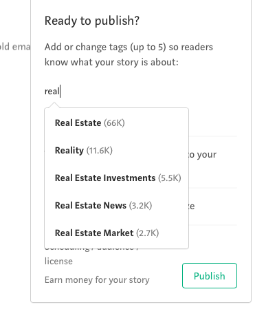 Where to Promote Content to Get the Biggest Bang for Your Buck - Real Estate tag on Medium