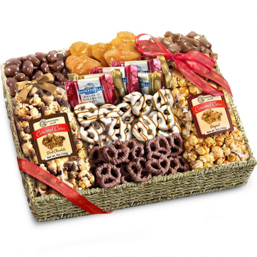 20 Holiday Gift Baskets for the Business Owner on Your List - Chocolate, Caramel and Crunch Grand Gift Basket