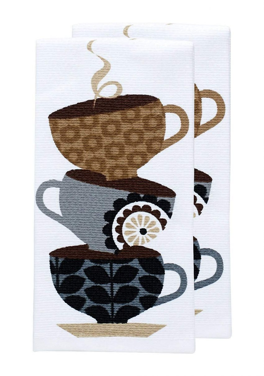 Clever Holiday Gift Ideas for Employees - Coffee Cup Dish Towels