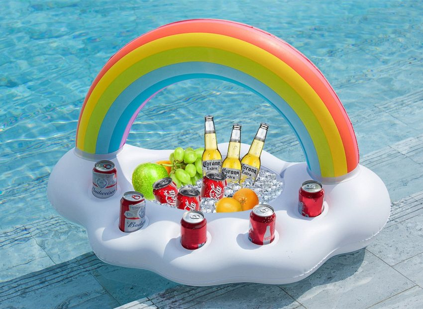 20 White Elephant Gift Ideas Your Staff Won't Want to Pass Up - Pool Float Drink Holder