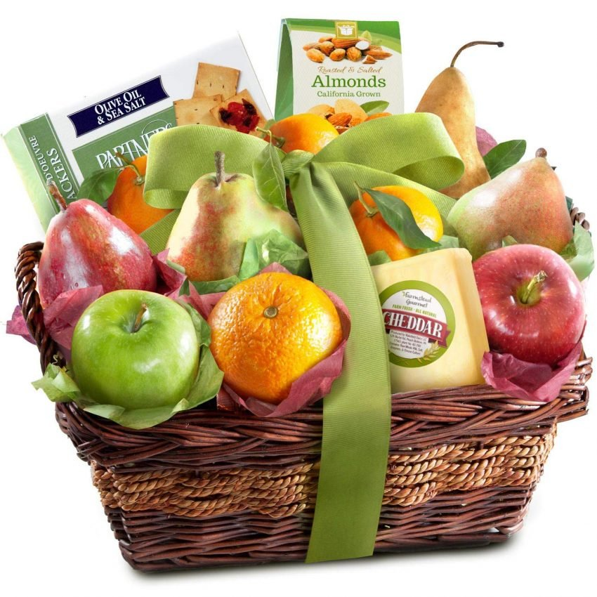 20 Holiday Gift Baskets for the Business Owner on Your List - Gourmet Fruit Basket Gift